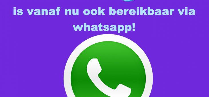 Vrij! is vanaf nu bereikbaar via whatsapp!