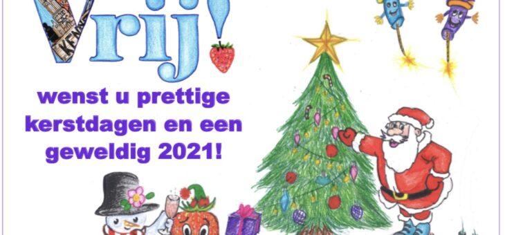 Vrij! wenst u prettige kerstdagen